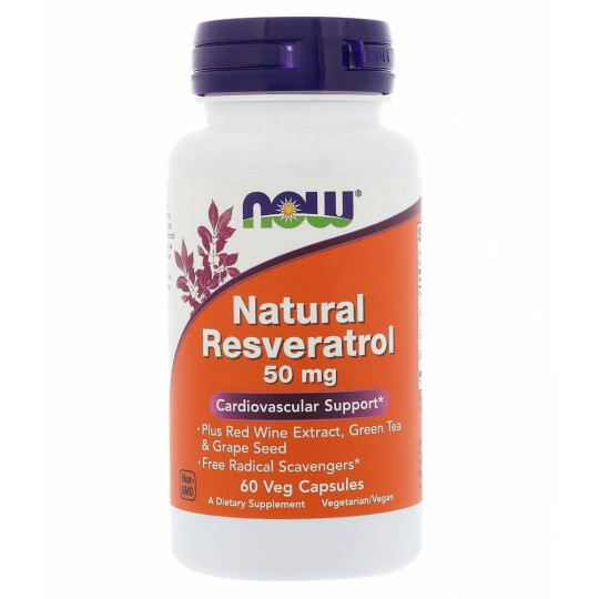 Now foods Natural Resveratrol 50 mg 60 капс.