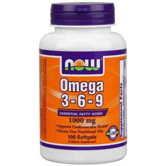 Now Omega 3-6-9 1000 мг 100 капсул