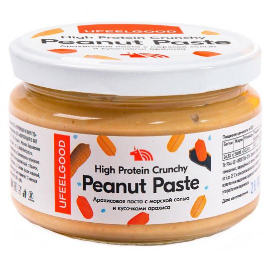 Ufeelgood Peanut Paste with Salt Паста Арахисовая с кусочками арахиса и морской солью 200 г