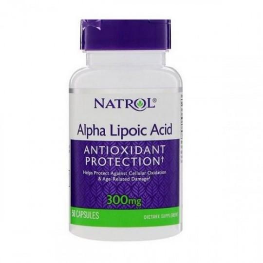 Natrol Alpha Lipoic Acid 300 mg 50 капс.