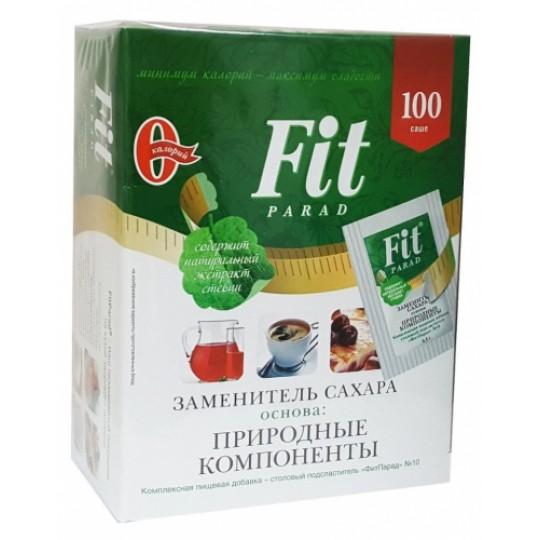 Fit Parad Сахарозаменитель №10 эритрит и стевия Саше 100 шт по 0,5 г