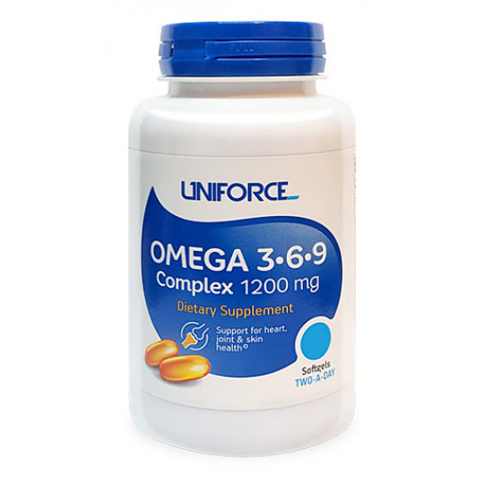 Uniforce Omega 3-6-9 Complex 1200 мг 120 гелевых капсул