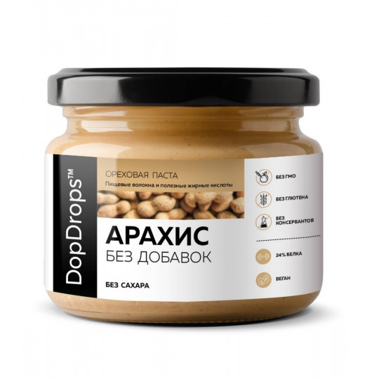 DopDrops Арахисовая паста 250 г без добавок