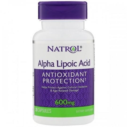 Natrol Alpha Lipoic Acid 600 mg 30 капс.