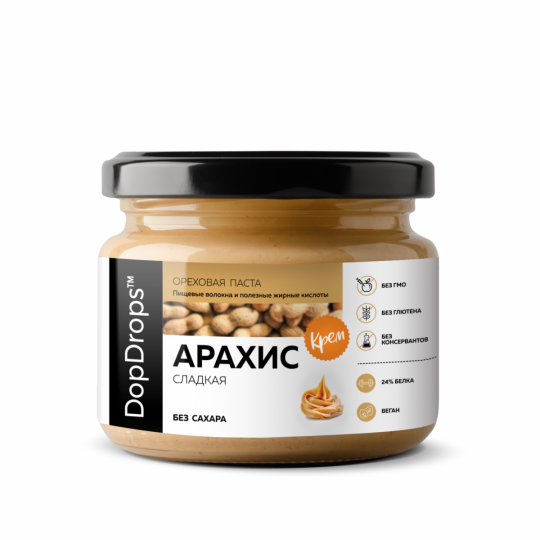 DopDrops Арахисовая паста Сладкий Крем 1000 г