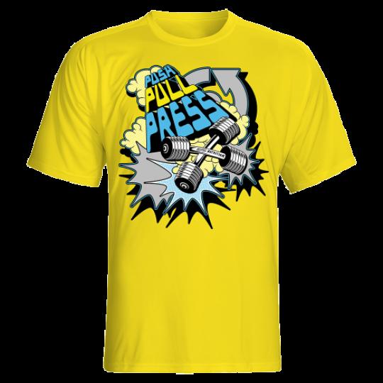 Scitec Nutrition футболка PUSH PULL PRESS желтый