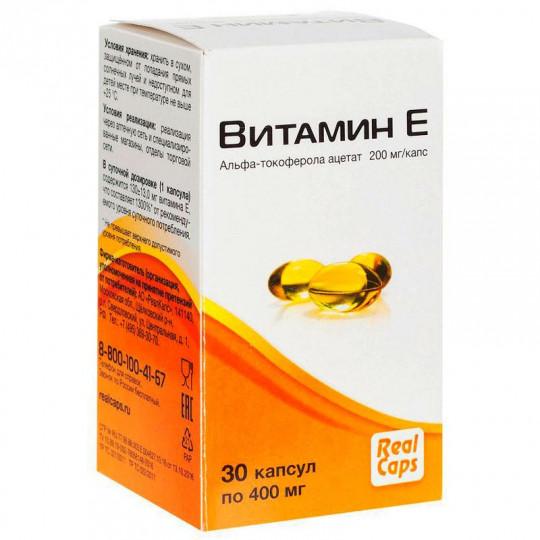 RealCaps Витамин Е 400 мг. 30 капс.