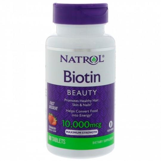 Natrol Biotin Fast Dissolve 10000 mсg 60 таб.