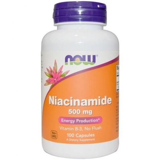 Now foods Niacinamide 500 mg 100 капс.
