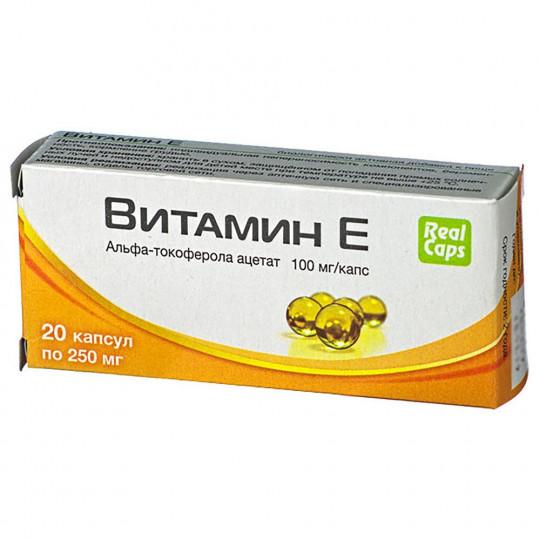 RealCaps Витамин Е 250 мг. 20 капс.