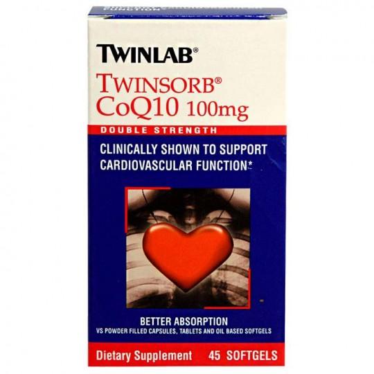 Twinlab Twinsorb CoQ10 100 mg 45 капс.