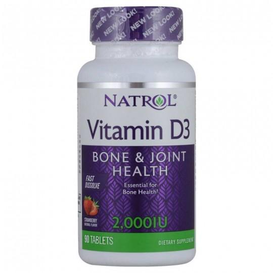 Natrol Vitamin D3 Fast Dissolve 2000 IU 90 таб.