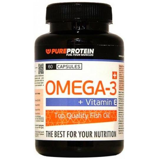 PureProtein Omega-3 + Vit E 60 капсул