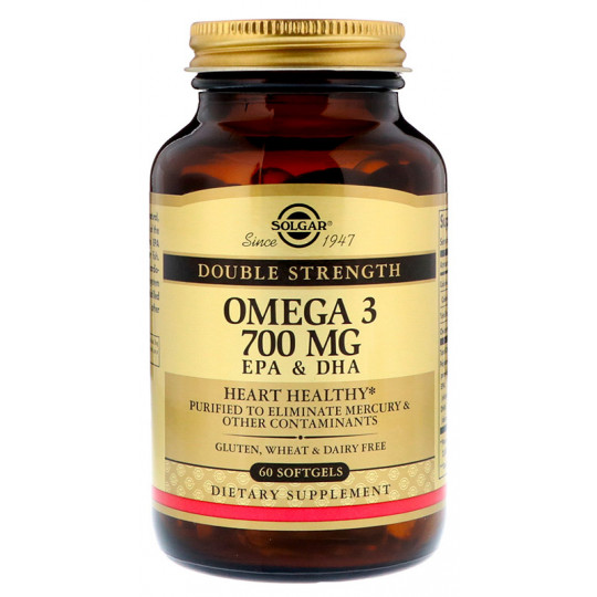 Solgar Omega-3 EPA & DHA Double Strength 700 мг 60 гелевых капсул