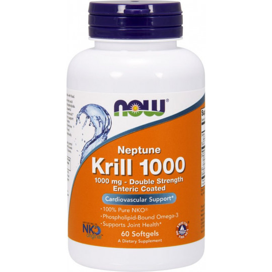 Now Krill Oil Neptune 1000 мг 60 гелевых капсул