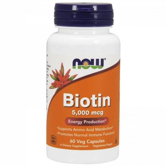 Now foods Biotin 5000 mсg 60 капс.