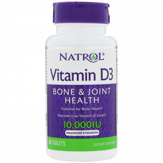 Natrol Vitamin D3 10.000 IU 60 таб.