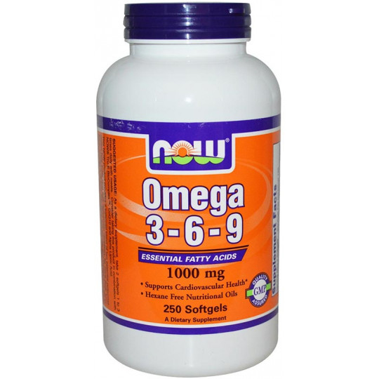 Now Omega 3-6-9 1000 мг 250 капсул