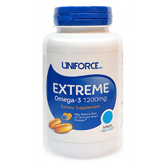 Uniforce Extreme Omega-3 1200 мг 120 гелевых капсул