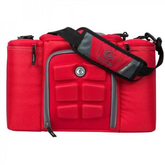 6 pack fitness Innovator 300 Red-Grey Сумка для еды с контейнерами красный-серый