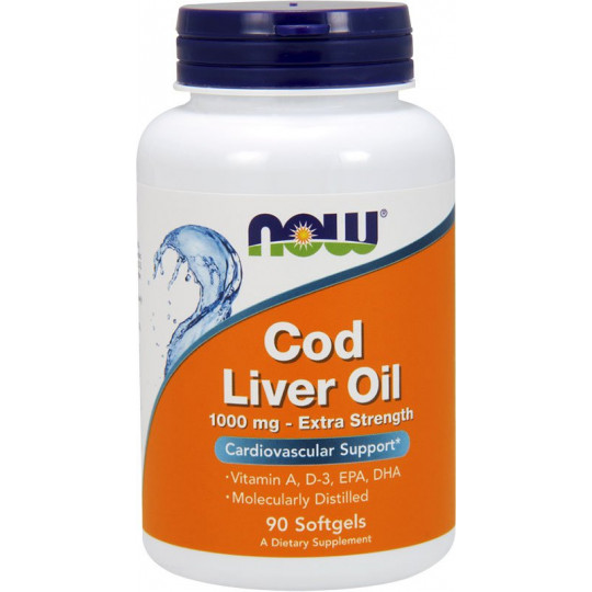 Now Cod Liver Oil 1000 мг 90 гелевых капсул