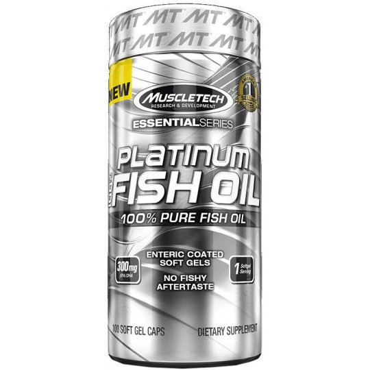 MuscleTech Platinum 100% Fish Oil 100 капсул