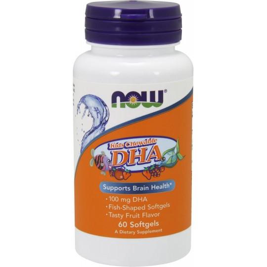 Now Kid's Chewable DHA 100 мг Фруктовый 60 гелевых капсул