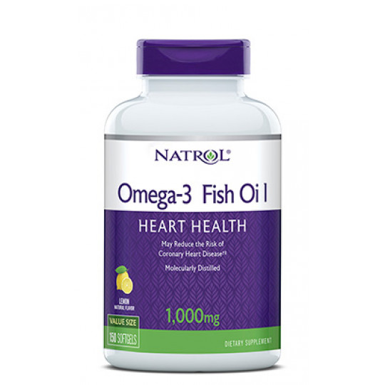 Natrol Omega 3 fish oil 1000 мг