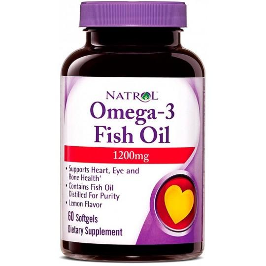 Natrol Omega-3 1200 мг 60 гелевых капсул