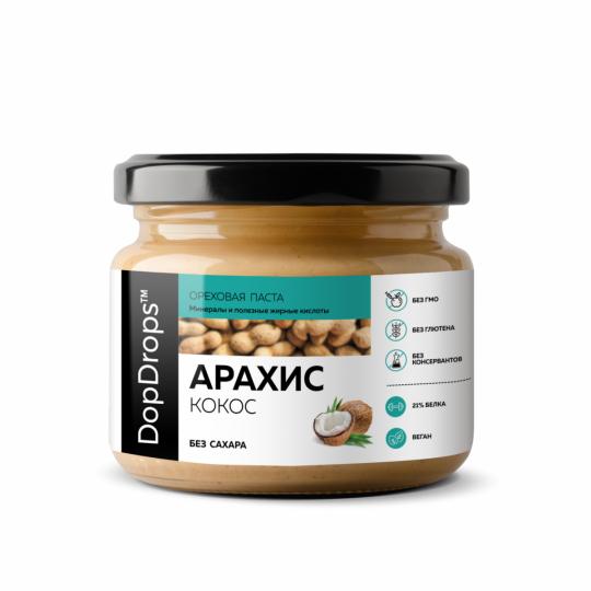 DopDrops Паста арахис-кокос 250 г без сахара