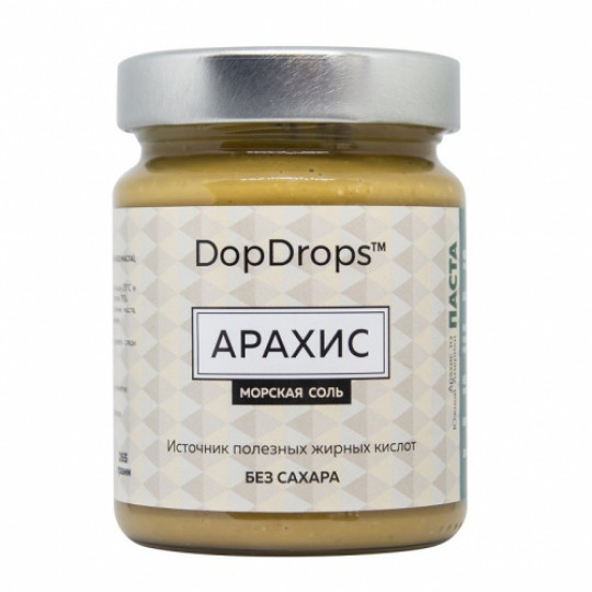 DopDrops Арахисовая паста 250 г морская соль