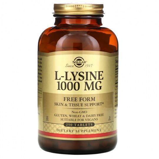 Solgar L-лизин в свободной форме 1000 мг 250 таблеток