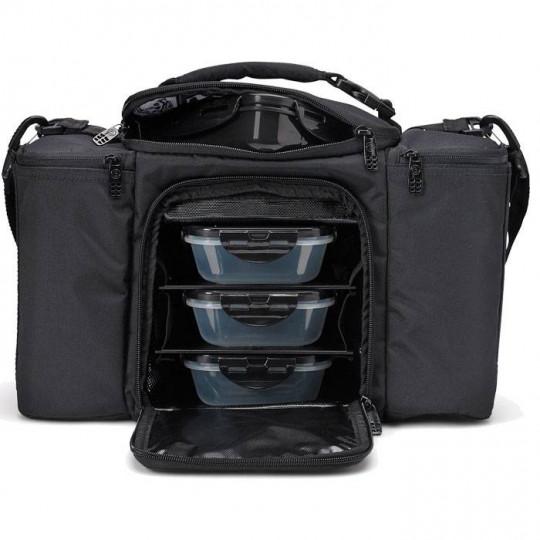 6 pack fitness Innovator 300 Stealth Сумка для еды с контейнерами черный-черный