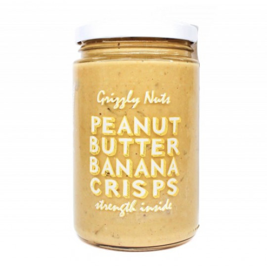 Grizzly Nuts арахисовая паста с банановыми чипсами Banana Crisps 370 г