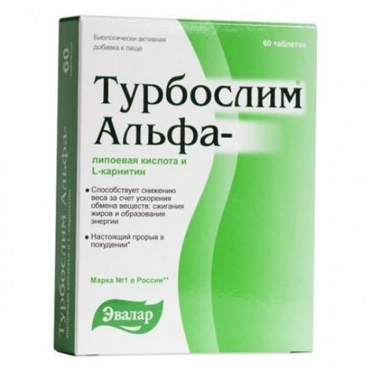 Эвалар Турбослим Альфа-липоевая кислота и L-карнитин 60 таб.