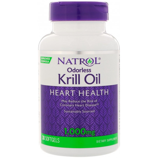 Natrol Omega-3 Krill Oil 1000 мг 30 гелевых капсул