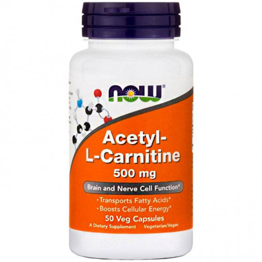 Now foods Acetyl L-Carnitine 500 mg 50 капс.