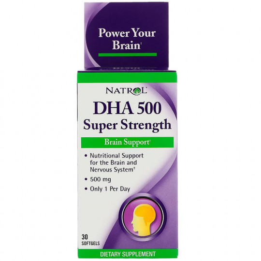 Natrol DHA 500 mg Super Strength 30 капс.