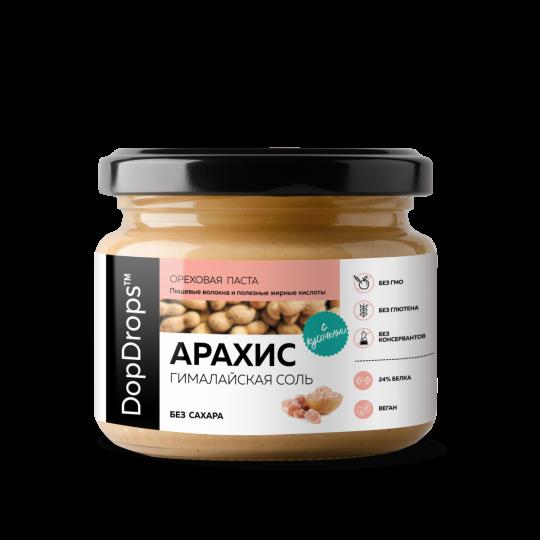 DopDrops Арахисовая паста Кранч 1000 г гималайская соль