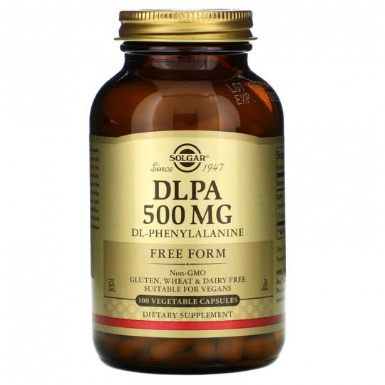 Solgar DLPA в свободной форме 500 мг 100 растительных капсул