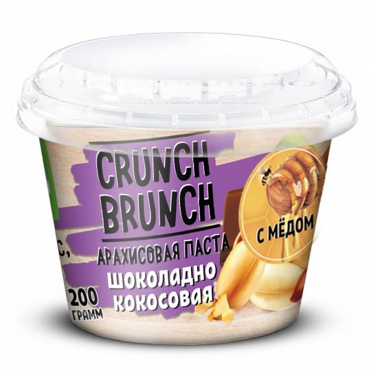CRUNCH-BRUNCH Арахисовая паста Шоколадно-Кокосовая с медом 200 г