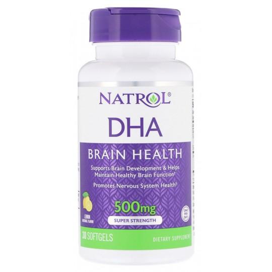 Natrol DHA 500 Brain Health Super Strength 30 гелевых капсул