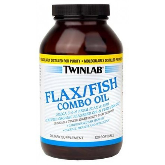 Twinlab Flax/Fish Combo Oil 120 капсул
