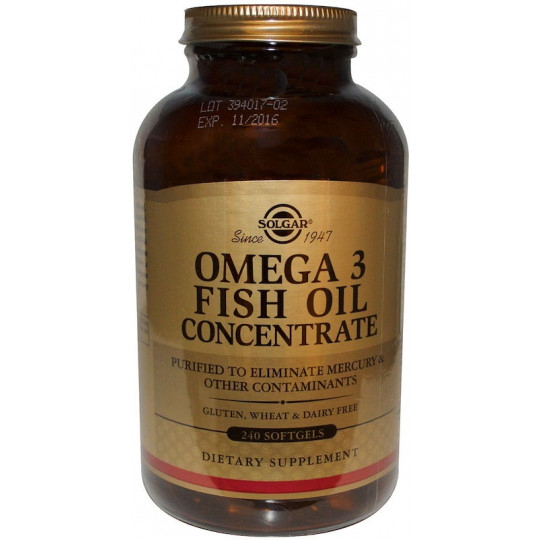 Solgar Omega-3 Fish Oil Concentrate 240 гелевых капсул