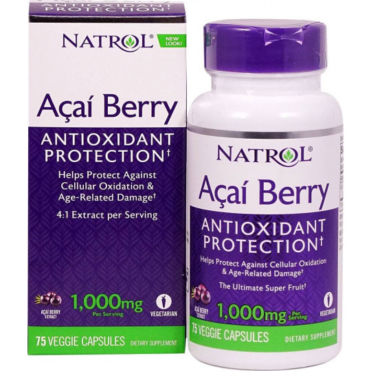 Natrol AcaiBerry 1000 mg 75 капс.