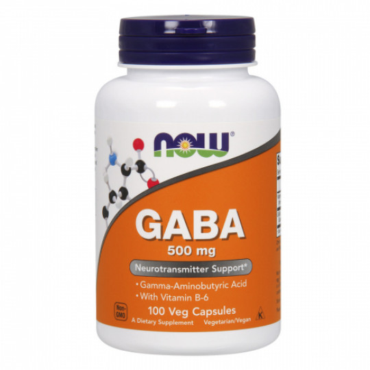 Now foods GABA with B-6 500 mg 100 капс.