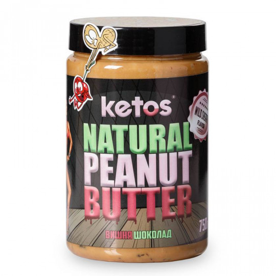 Ketos Natural Peanut Butter Cherry 750 г