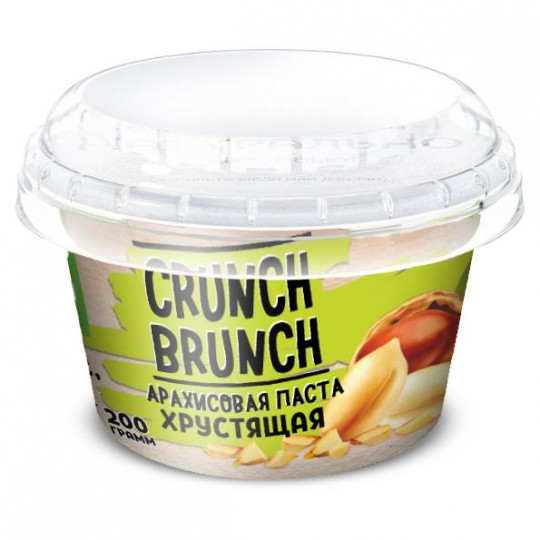 CRUNCH-BRUNCH Арахисовая паста Хрустящая 200 г