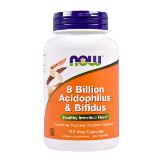 Now foods 8 Billion Acidophilus & Bifidus 120 капс.