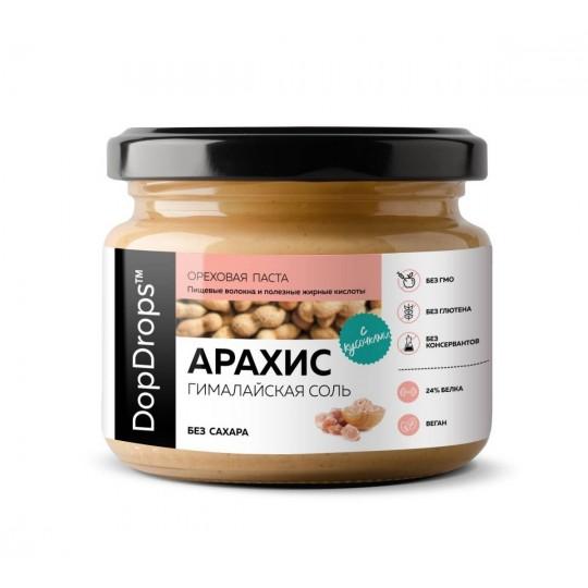 DopDrops Арахисовая паста Кранч 250 г гималайская соль